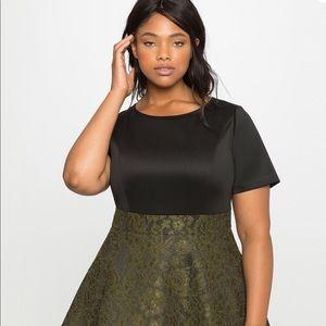 NWT Eloquii Tiered Flounce Dress